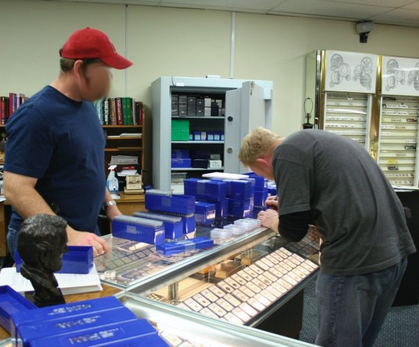 Part of the fruits of our labors -- boxes and boxes of PCGS certified nuggets.