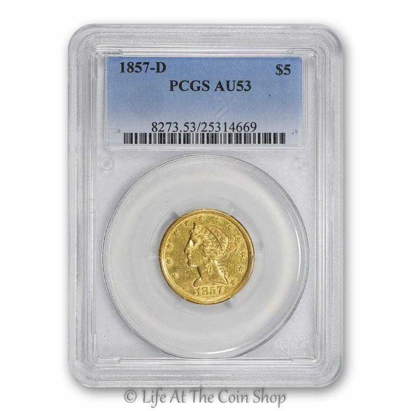 1857-D $5 (2)