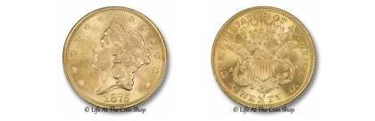 1875-S $20 PCGS MS63 (1)