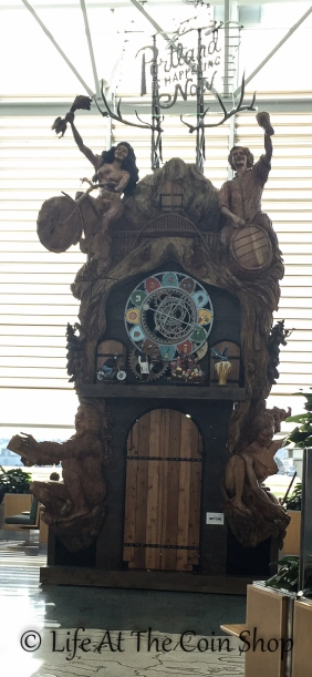 Crazy clock in the Portland airport.