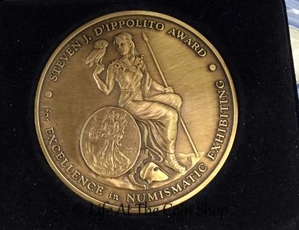Steve Dippolito showed me the medal named after him.
