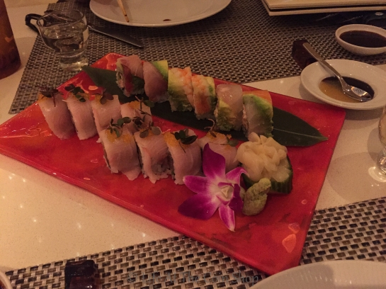 Dinner at Andrea's Restaurant.